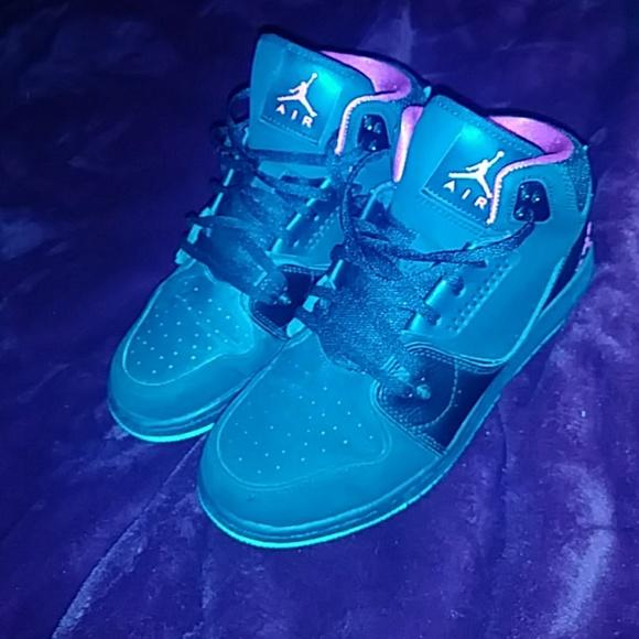 Jordans Black Pink With Neon Green Sole
